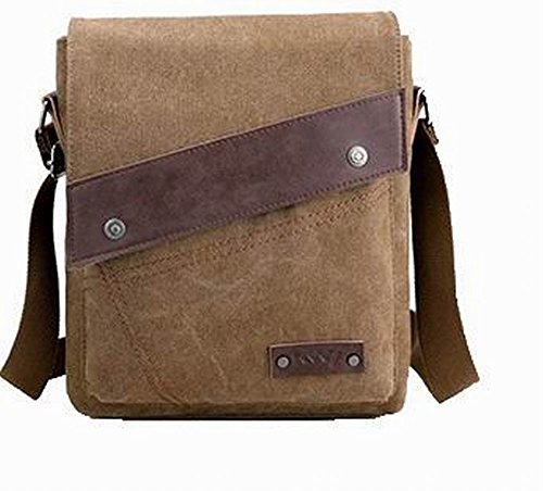 Women Brown Bags Cross Odomolor Travel Bags Canvas Casual Studded Brown Shoulder 7wwTdqS