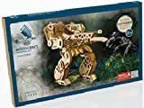 3D Jigsaw Puzzles Robot Man Assembly Woodcraft Kids Toy Birthday gift