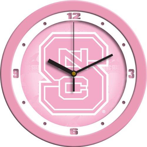 (SunTime NCAA North Carolina State Wolfpack Wall Clock - Pink)