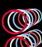 """300 Lumistick 8"""" Glow Stick Glow Bracelets - Assorted Red/White/Blue Mix"""