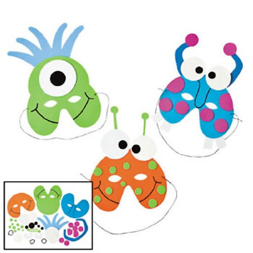 Monster Masks For Kids - Foam Monster Mask Craft Kits (1