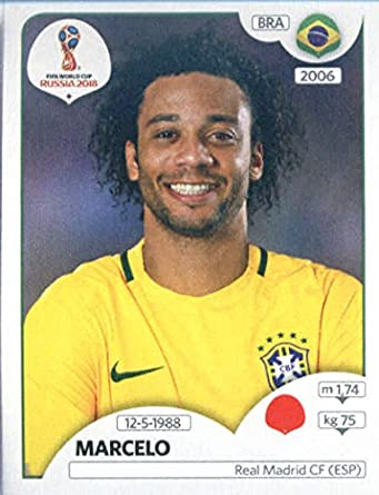 2018 panini world cup stickers russia 360 marcelo brazil soccer sticker