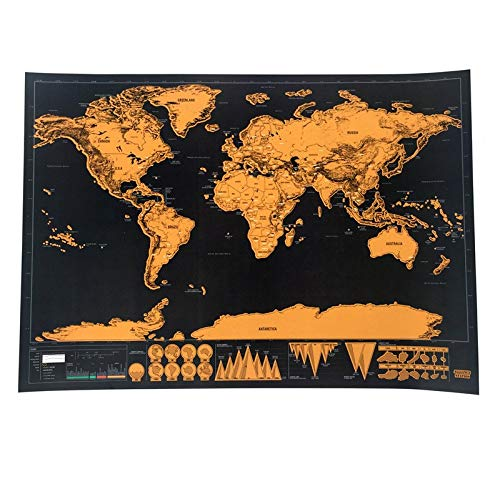 World Scratch Off Map for Any Travel Personalized Gift 16.7