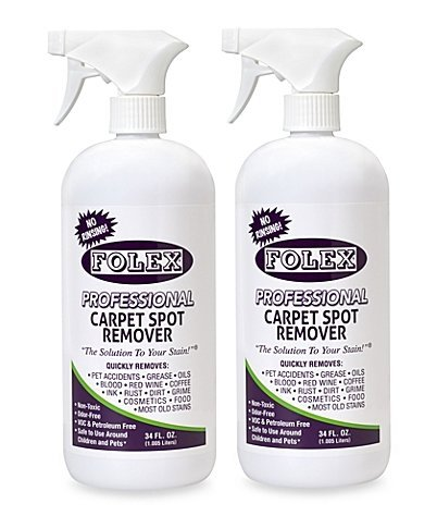 Folex Professional Carpet Spot Remover, No Rinsing (34 oz - Pack of 2)