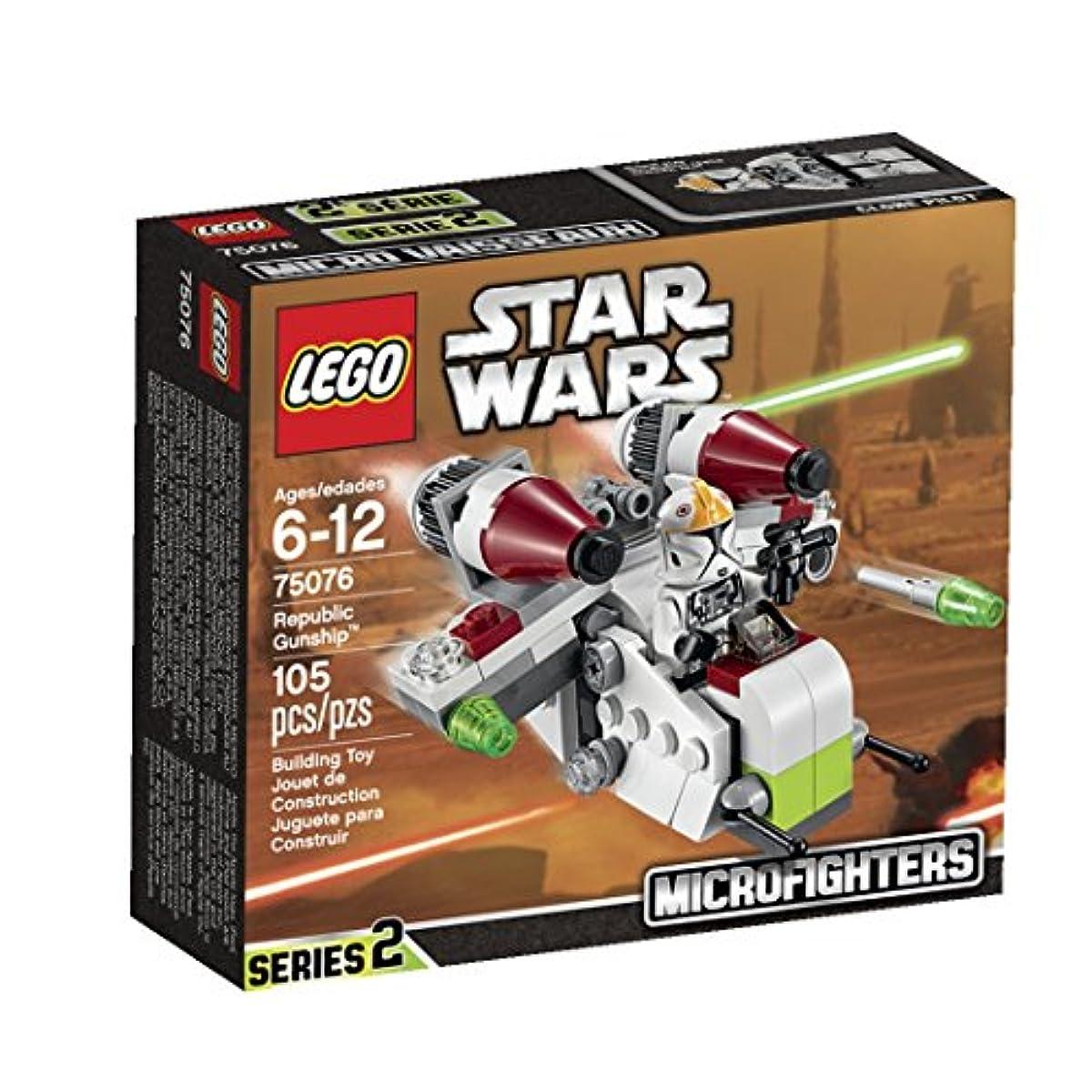 """[해외] 레고 (LEGO) 스타워즈 마이크로 포스 파이터""""리퍼블릭건 쉽"""" 75076"""