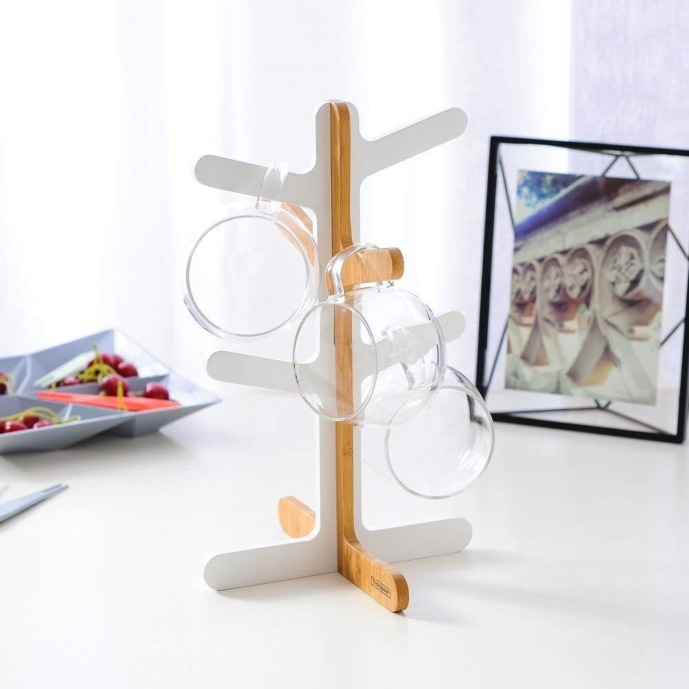 Rosseae Tassenregal mit Baum-Up-Motiv, für Kaffeetassen und Tassenhalter, Weinglasregal, Aufbewahrungsregal,