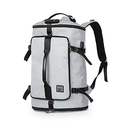 Outdoor Fashion Men's Waterproof Backpack, 50L Large Capacity Multi-functional Breathable Leisure Travel Rucksack, Wear-resistant Sports Mountaineering Knapsack, School Bag (light Gray)