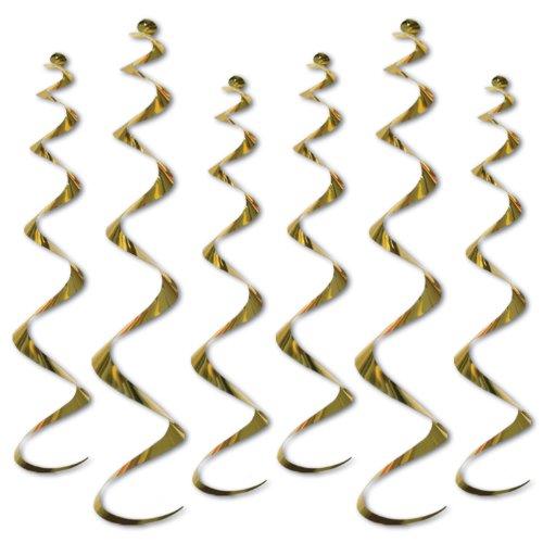 Twirly Whirlys gold 6 Pkg