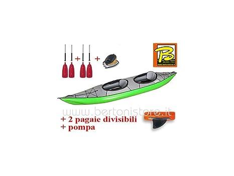 gumotex Swing 2 Verde Kayak hinchable con aleta + Bomba + 2 remos ...