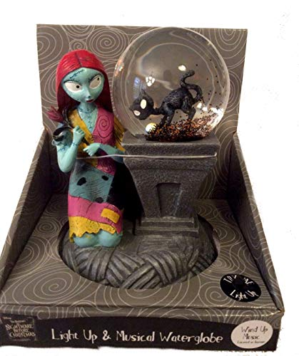 the nightmare before christmas sally light up musical water globe snow globe