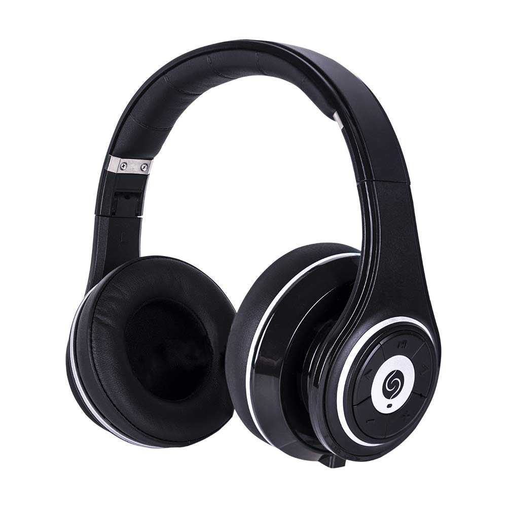 SNLSY Bluetooth Headphones Over Ear Hi-Fi Stereo Foldable Portable Control Wired/Wireless Headphone Built-in Mic Soft Earmuffs Black
