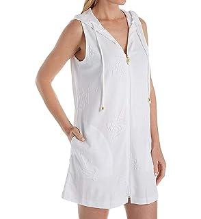 42c5f5f8b1 Amazon.com: Dotti Women's Ibiza Stripe Side Shirred Hoodie Tunic ...