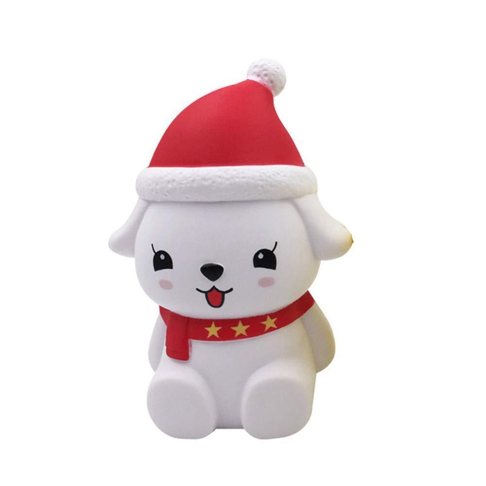 Morbido Cane Cartoon Natale spremere squishies mitigatore Lento Aumento decompressione Rilievo Puntelli Giocattoli Regalo per Bambini e Adulti Qiusa Giocattoli Antistress