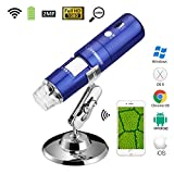 JOYSMADE Wireless Wifi USB Digital Microscope Portable with 2MP,1080P HD,50x to 1000x Magnification and Mini Pocket Rechargeable Kids Microscope for iPhone/iPad/Android phone/Windows/Mac