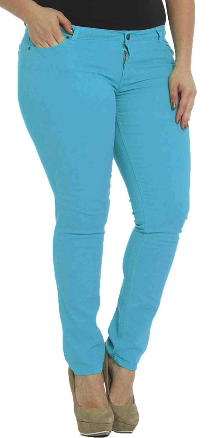 25358f8b83f Hey Collection Juniors Plus-Size Brushed Stretch Twill Skinny Jeans  high-quality
