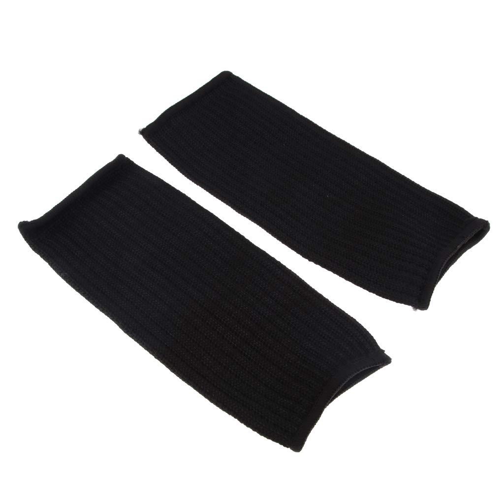 FLAMEER 1 Pair Black Cut-resistant Outdoor Gardening Armband Sleeves Arm Guard Protector 22cm//8.6in