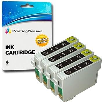 4 NEGRO Cartuchos de tinta compatibles para Epson Stylus S20 S21 ...
