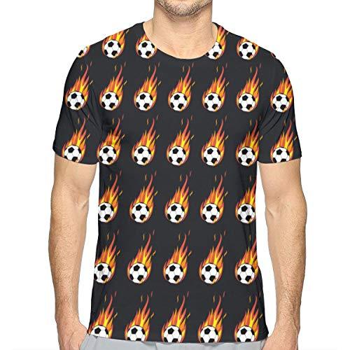 Flaming Soccer Ball T-Shirt Funny Women's Mens Teen - Soccer Flaming Ball T-shirt
