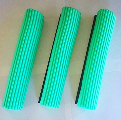 ((Ship from USA) 3 PVA Sponge Foam Rubber Mop Head Refill Replacement Home Floor Cleaning)