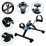 Pedal Exerciser,Portable Medical Exercise Peddler,Small Exercise Bike with LCD for Under Office Desk,for Legs and Arms Workout