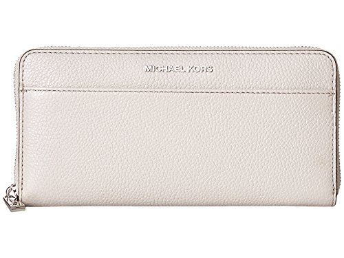 Michael Kors Cement Continental Zip Around Wallet Leather - Co Kors Shops Michael