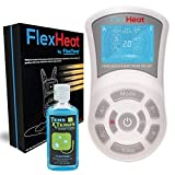 FlexHeat Tens EMS Unit with Heat - FDA 510K Cleared - Patented Combo Muscle Stimulator Machine Best Pain Relief Therapy for Back Pain, Nerve, Muscle & Bone Inflammation, Arthritis, Neuropathy & Labor