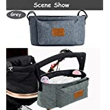 Diaper Bag Mommy Bag Nappy Bag Waterproof Multi-Function for Baby Care for Stroller Organizer (grey)
