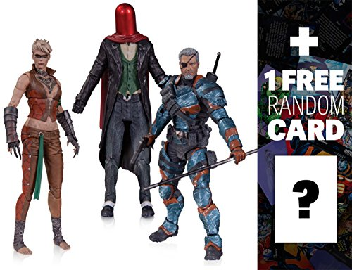 Copperhead, The Joker as Red Hood & Deathstroke Unmasked: DC Collectibles Batman Arkham Origins Series + 1 FREE Official DC Trading Card Bundle