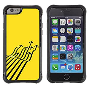 Be-Star único patrón Impacto Shock - Absorción y Anti-Arañazos Funda Carcasa Case Bumper Para Apple iPhone 6 Plus(5.5 inches)( Fighter Jet Arrow Abstract Yellow )