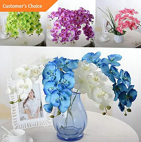 Hebel Artificial Butterfly Orchid Silk Fake Flower Wedding Party Phalaenopsis Bouquet | Model ARTFCL - 402 |