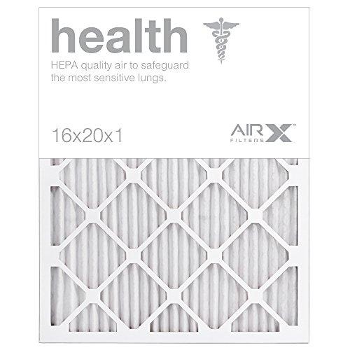 AIRx HEALTH 16x20x1 MERV 13 Pleated Air Filter - Made in the USA - Box of 6