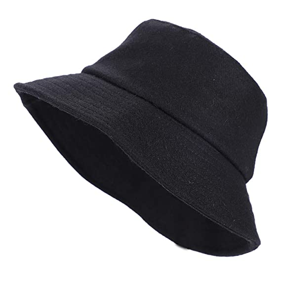 f84ba4a0051fe IBLUELOVER Fedora Hats for Women and Men Bucket Hat Vintage Floppy Wide Brim  Wool Felt Cloche