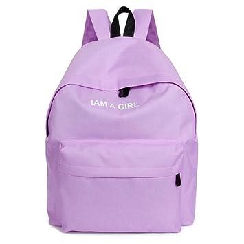 Bolso, Manadlian Unisexo Mochila de lona Niños niñas Mochila escolar Bolsa de hombro (40*32*12cm(L*H*D), Púrpura): Amazon.es: Hogar