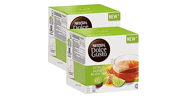 Nescafé Dolce Gusto Citrus Honey Black Tea, Té Negro con de cítricos, miel de, y aroma de jengibre, Negro Té, Cápsula, 32 Cápsulas: Amazon.es: Alimentación ...