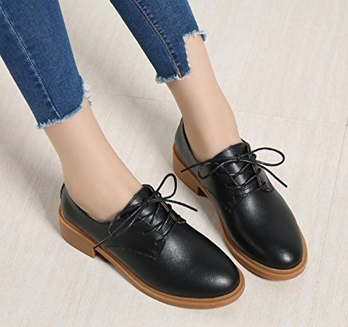 Black Casual Loafers Fashion Oxford Shoes Women's Autumn Shoes 0SZ6wZx8
