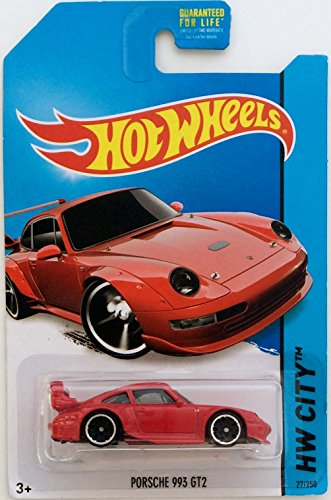 hot wheels red porsche 993 gt2 die cast collectible from 2014 city release. Black Bedroom Furniture Sets. Home Design Ideas