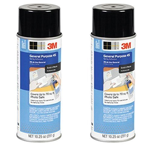 General Purpose Spray Adhesive - 2-Pack 3M General Purpose 45 Spray Adhesive, 10-1/4-Ounce