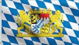 DMSE Coat of Arms of Bavaria Bavaria Golden Lion Flag 3X5 Ft Foot 100% Polyester 100D Flag UV Resistant (3'X5' Ft Foot)