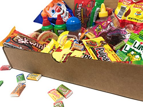 Candy Assortment Box Gift Set (Includes Popular Choices from Vero, De La Rosa, Lucas, Lorena Pelon, Anahuac, Candy Pop, Diana, Indy, Jovy, Canels and Ricolino) ()