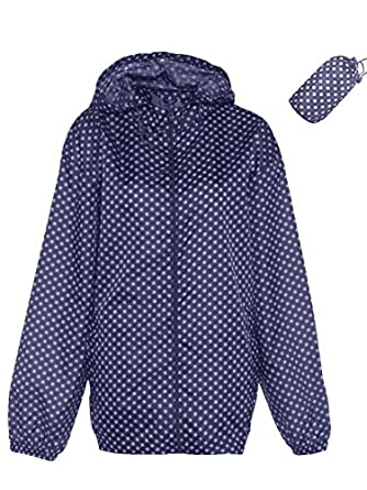 Womens Lightweight Printed Showerproof Rain coat Jacket Kagool Kag ...