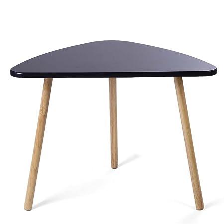 Juego de mesas de escritorio, 2 piezas de madera, modernas mesas ...