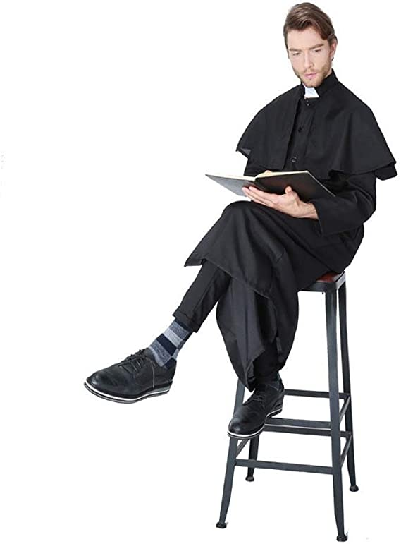 QHYX Disfraz de Halloween para Adultos, Sacerdote de Jesucristo ...