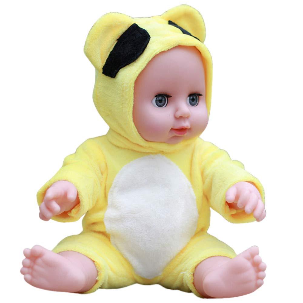 PSFS Realistic Reborn Baby Dolls 30CM,Reborn Baby Doll Life Like Soft Vinyl Silicone Doll (Yellow A)