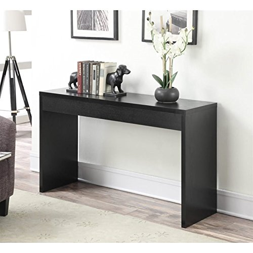 Convenience Concepts Northfield Hall Console Table, Black (Finish Wood Bed Country)