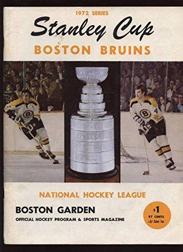 1972 Stanley Cup Finals Program Rangers @ Bruins Ex