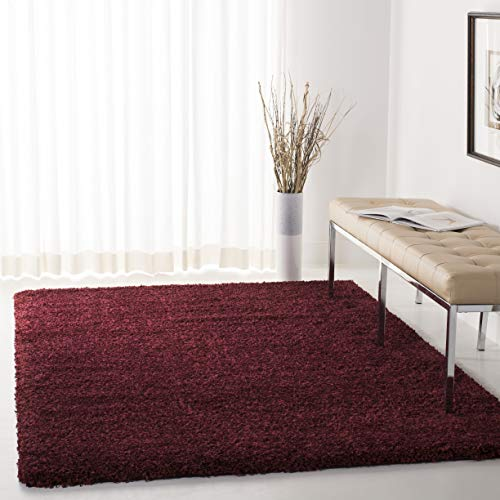 Safavieh California Premium Shag Collection SG151-4242 Maroon Area Rug (8'6