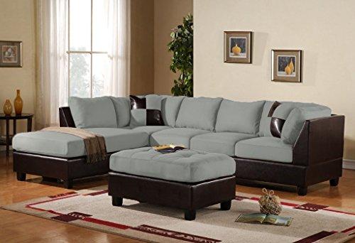 3-piece-modern-reversible-microfiber-faux-leather-sectional-sofa-set-w-ottoman-grey