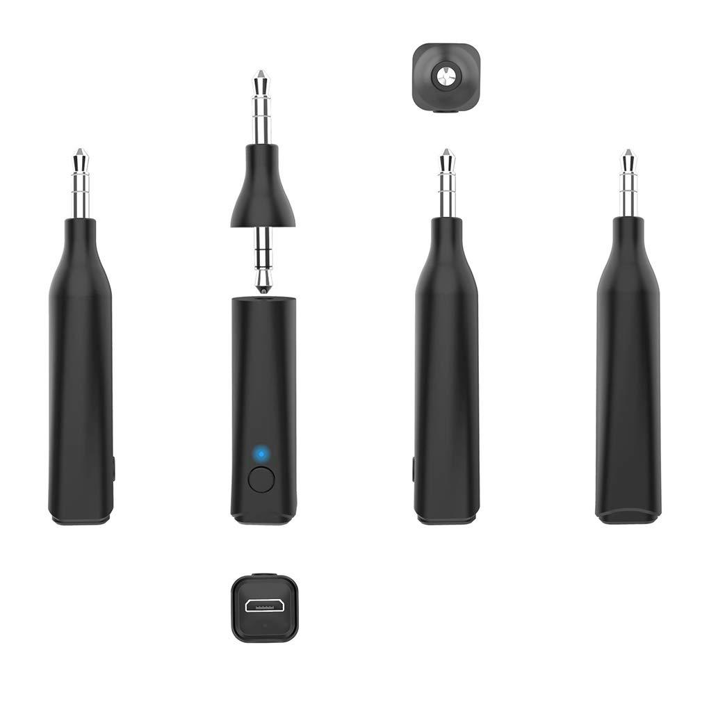 PRENKIN Receptores M/úsica Mini Coche Bluetooth AUX Jack de 3,5 mm Receptor Bluetooth Manos Libres para Llamadas Adaptador de Coche Auto del transmisor