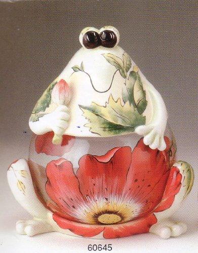 VG Frog Glass Belly Cookie Jar ()