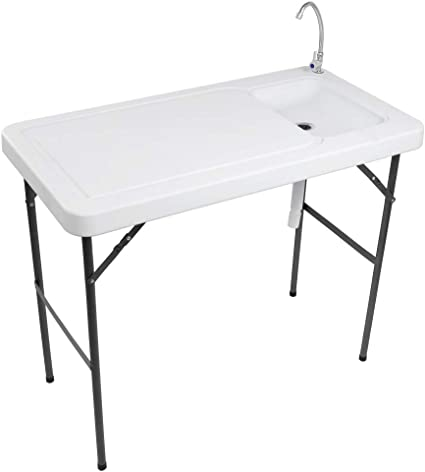 CLEANING//CUTTING SINK FILET TABLE PORTABLE FOLDING OUTDOOR FISH FILLET TABLE